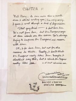 Caliban Codex, 1992, przedstawia pamiętnik Kalibana z Burzy Szekspira. Strony z pamiętnika przeplatają się z próbami autoportretu Kalibana, który nigdy nie widział swojego odbicia