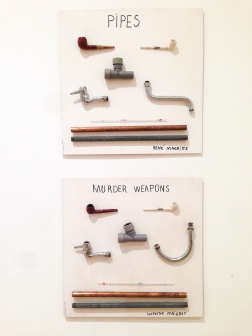Types of Pipes by Magritte, 1993 + Types of Murder Weapons by Maigret, 1993.